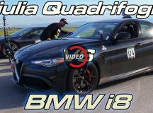 Drag Race: Alfa Romeo Giulia QV vs. BMW i8