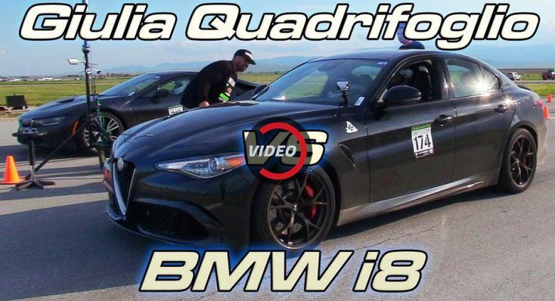Drag Race: Alfa Romeo Giulia QV vs. BMW i8