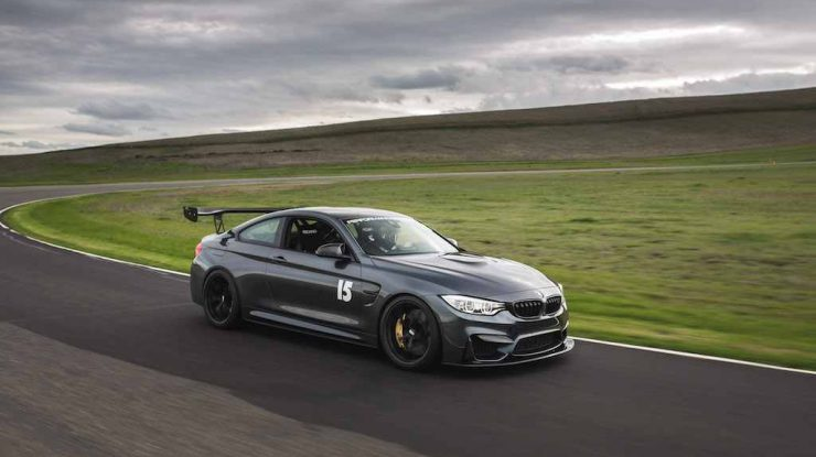 F82 BMW M4 in Mineral Gray Gets Photo Session on the Track