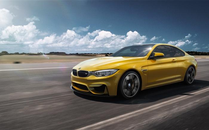 Speed Yellow F82 BMW M4 Pops-Up at Abu Dhabi Motors