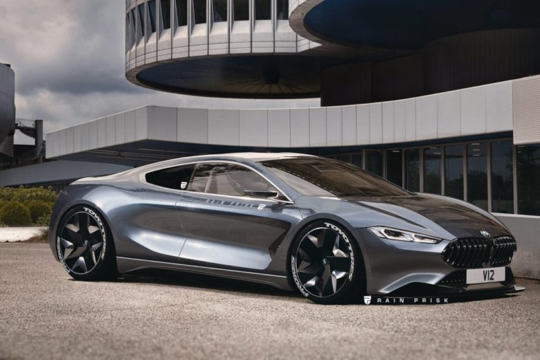 BMW 8 Series Rendered as V12 Supercar