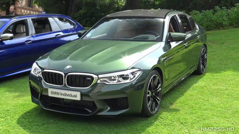 Video: British Green F90 BMW M5 Individual Shines at Concorso d`Eleganza Villa d`Este